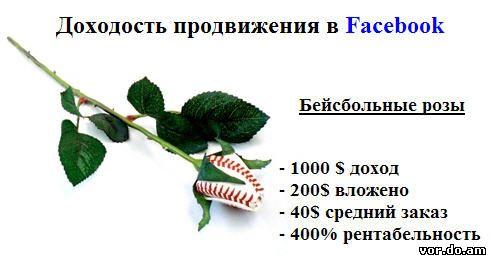 Продажа роз через Фейсбук